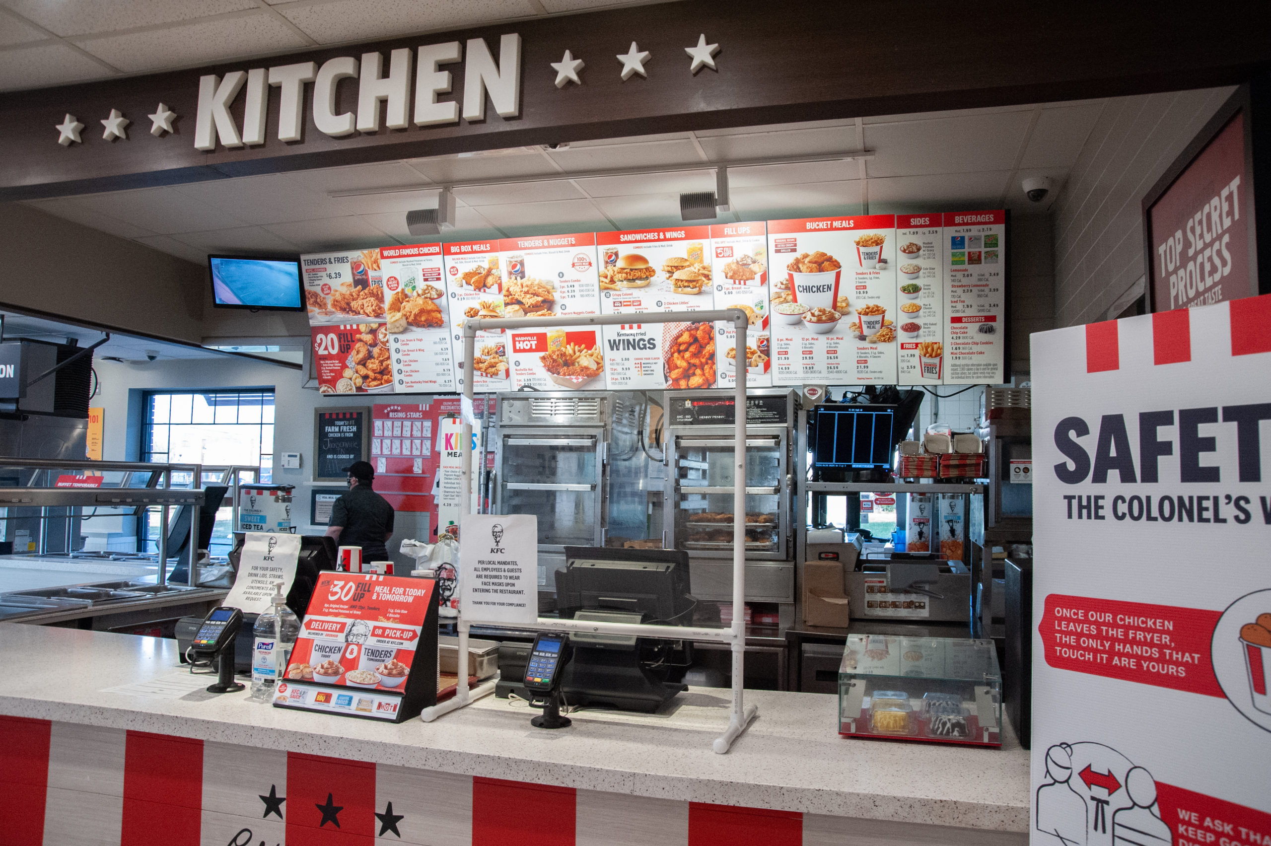 KFC ordering counter