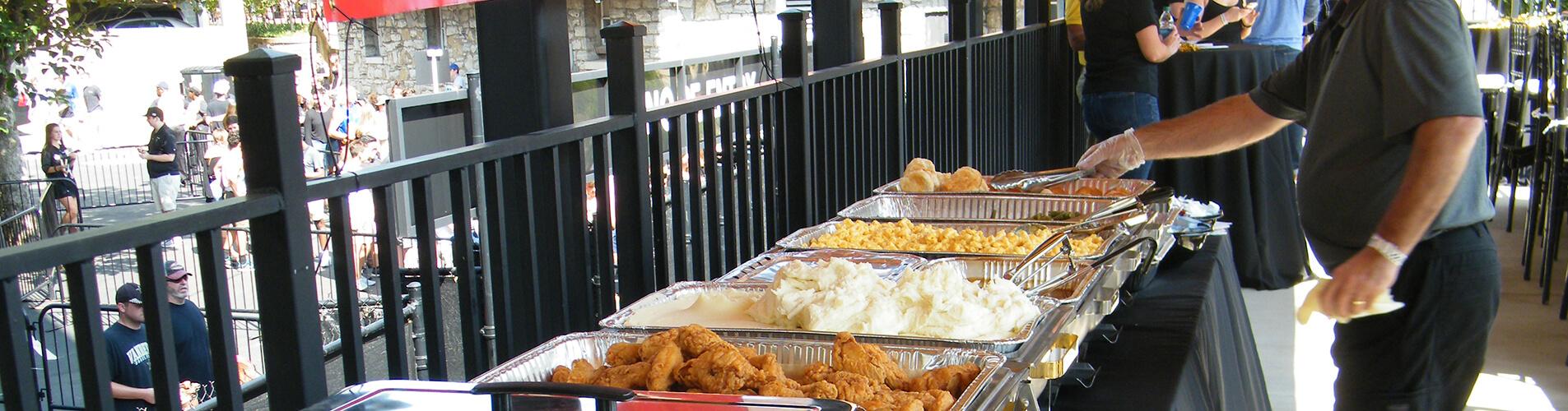 KFC Catered event buffet set up