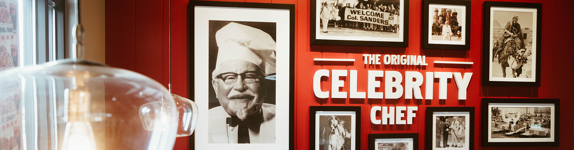 KFC Celebrity Chef wall